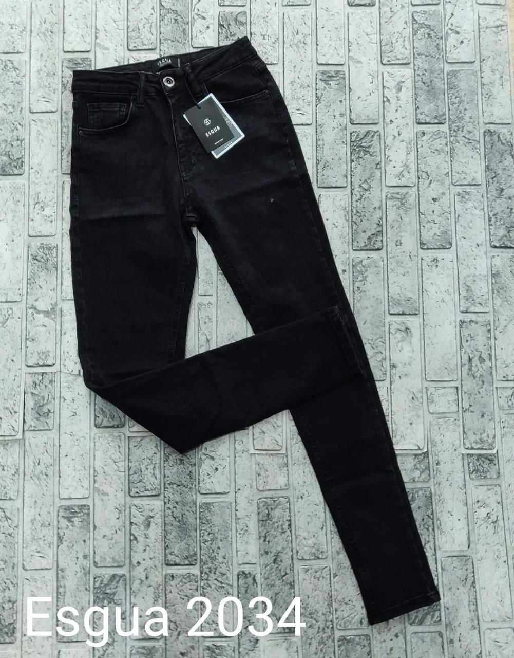 Черные джинсы стрейч американка Esqua 2034 (26-31)