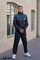 Мужской спортивный костюм из плащёвки утеплённый синтепоном и овчиной с 46 по 54 размер, фото 3