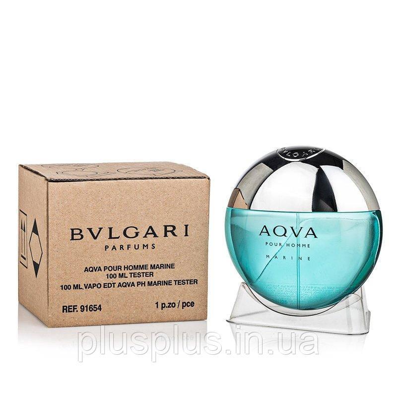 Туалетная вода Bvlgari Aqva Pour Homme Marine для мужчин  - edt 100 ml tester