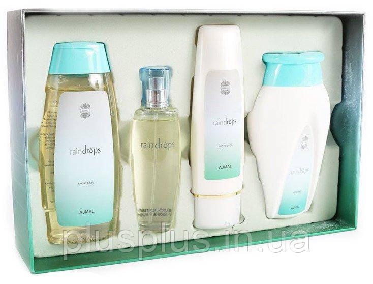 Набор Ajmal Raindrops для женщин  - set (edp 50 ml + sh/g 200 ml + b/l 100 ml + powder)