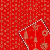 Новогодняя бумага в рулоне Гирлянда