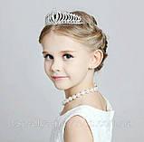 Детская корона, диадема для девочки, высота 4 см., фото 4