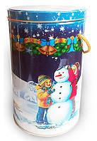 """Новогодняя упаковка для подарков из жести """"Новогодние каникулы"""" (наполнение до 1000 грамм)"""