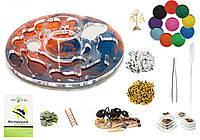 "Комплект Муравьиная Ферма ""Планета Марс"" + гипс.прослойка, колония муравьев, корм, декор (24x22x6 см), фото 1"