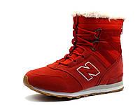 Кроссовки зимние, на меху, NB, высокие красные, фото 1