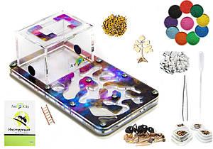"Комплект Муравьиная Ферма Smart ""Звездное небо"" + колония муравьев, корм, аксессуары и декор (18х10х7 см)"