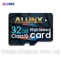 Карта памяти на 32GB microSD Class 10 + SD-adapter. Карта памяти микро сд 32 гб Alunx High Speed OP541X