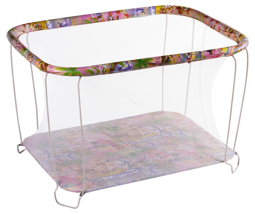 Манеж детский игровой KinderBox джунгли с мелкой сеткой (kmk 464)