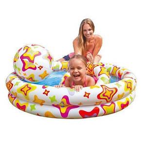 Дитячий надувний басейн Intex 59460 + коло + м'яч, фото 2