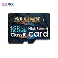 Карта памяти 128GB microSD Class 10 + SD-adapter. Карта памяти микро сд 128 гб Alunx High Speed JU4532X, фото 1