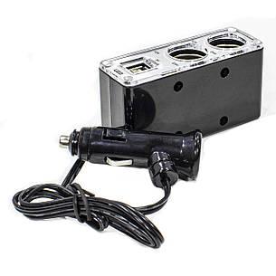 Автомобільний розгалужувач для прикурювача Lesko BM-003 USB*2 (3659-10581), фото 2