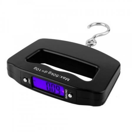 Електронні ручні ваги кантер WeiHeng WH-A09 до 50 кг Чорний (20053100104), фото 2