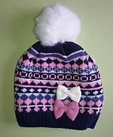 Зимняя шапка детская для девочки