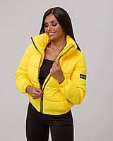 Куртка женская осенняя Курточка короткая женская Демисезонная Дутая куртка женская Бомбер женский