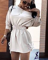 Платье короткое на резинке
