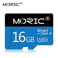 Карта памяти 16GB microSD Class 10 + SD-adapter. Карта памяти микро сд 16 гб Moric Smart Card Z233F, фото 1