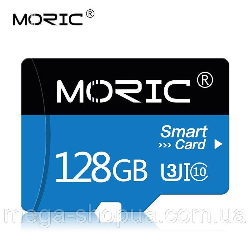 Карта памяти 128GB microSD Class 10 + SD-adapter. Карта памяти микро сд 128 гб Moric Smart Card S7723Q