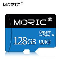 Карта памяти 128GB microSD Class 10 + SD-adapter. Карта памяти микро сд 128 гб Moric Smart Card S7723Q, фото 1