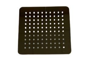 Лійка квадратна ультратонка для ванни/душа D 200мм LD-11.SN02-200