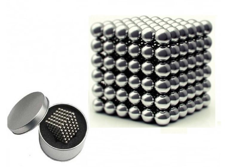 Магнітна головоломка конструктор Neocube Сріблястий