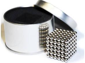 Магнитная головоломка конструктор Neocube Серебристый, фото 2