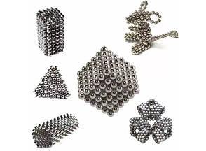 Магнітна головоломка конструктор Neocube Сріблястий, фото 2