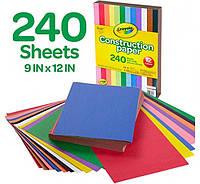 Crayola цветная двухсторонняя бумага крайола 240 листов Construction Paper 240 Pieces 12 цветов