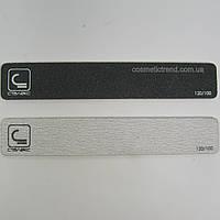 Пилка для ногтей широкая двусторонняя абразивная 100/120 (серая) Сталекс