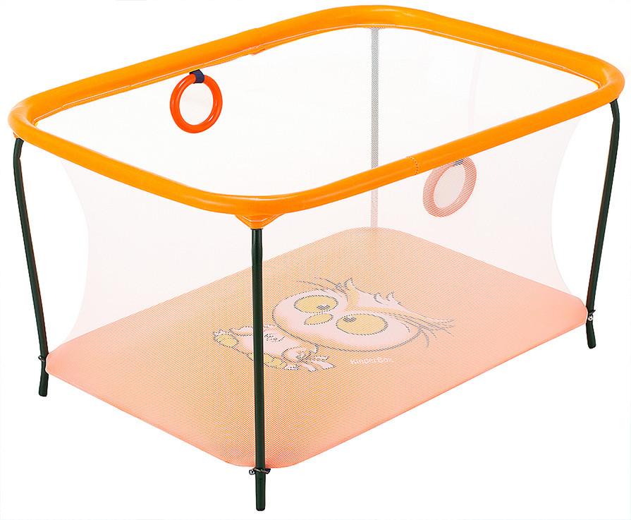 Манеж дитячий ігровий KinderBox люкс Помаранчевий (km 26013)