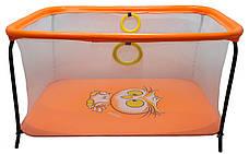 Манеж дитячий ігровий KinderBox люкс Помаранчевий (km 26013), фото 3
