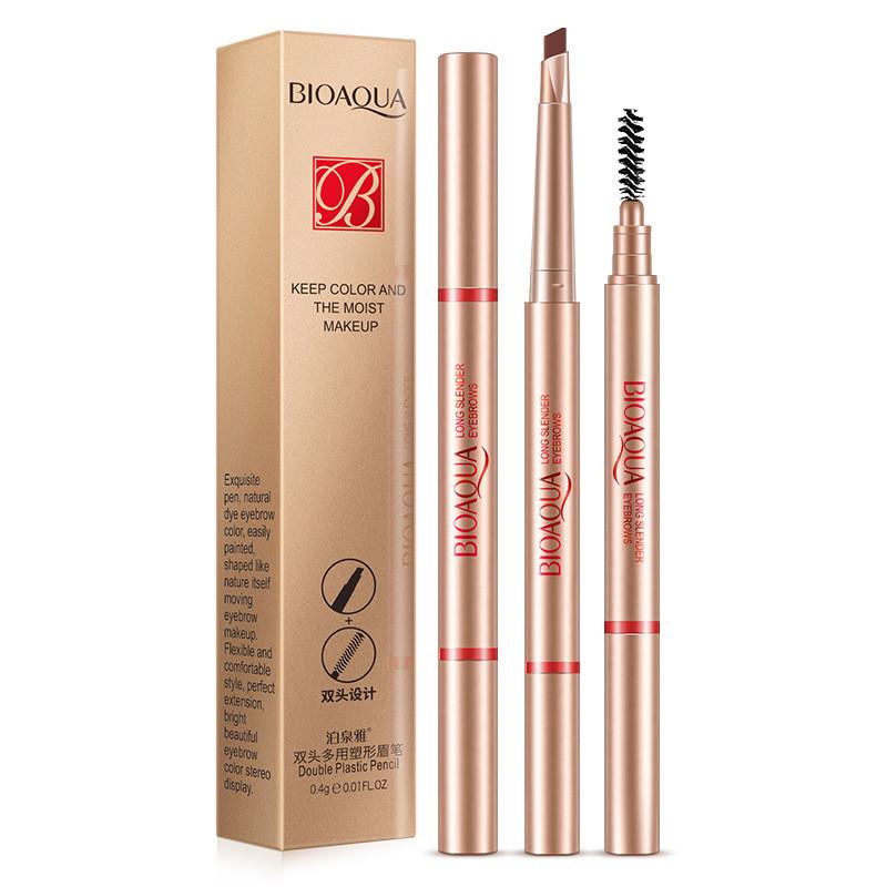 Олівець для брів з щіточкою BIOAQUA Keep Color And The Moist Makeup №12 бежевий (0,4 г)