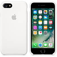Чехол силиконовый на айфон Silicone Case для iPhone 7 8 SE 2020 white белый