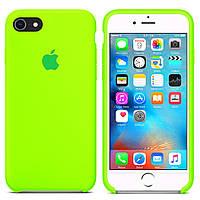 Чехол силиконовый на айфон Silicone Case для iPhone 7 8 SE 2020 party green ярко зеленый