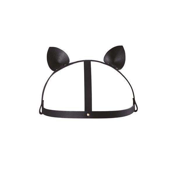 Маска кошечки Bijoux Indiscrets MAZE - Cat Ears Headpiece Black, экокожа