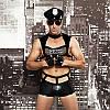 """Мужской эротический костюм полицейского """"Капитан Суровый"""" фуражка, трусы, топ, перчатки, очки, наруч, фото 4"""