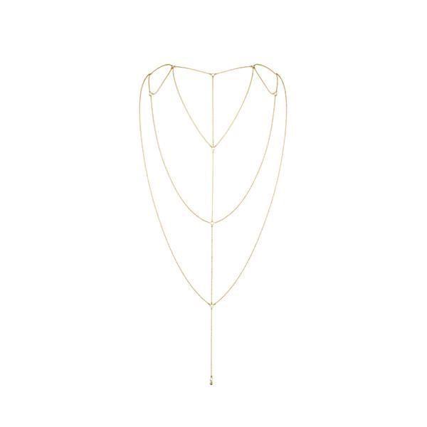Цепочка для спины Bijoux Indiscrets Magnifique Back and Cleavage Chain - Gold, украшение для тела