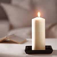Свеча формовая цилиндрическая 20 см х 70 часов горения IKEA FENOMEN декоративная пеньковая свечка ИКЕА ФЕНОМЕН