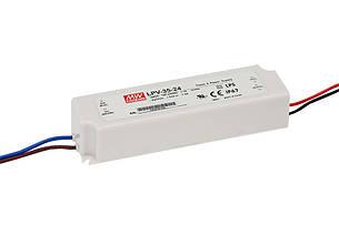 Источник питания LPV-35-24: AC/DC, IP67, 1.45A/35W. 148*40*30(L*W*H)