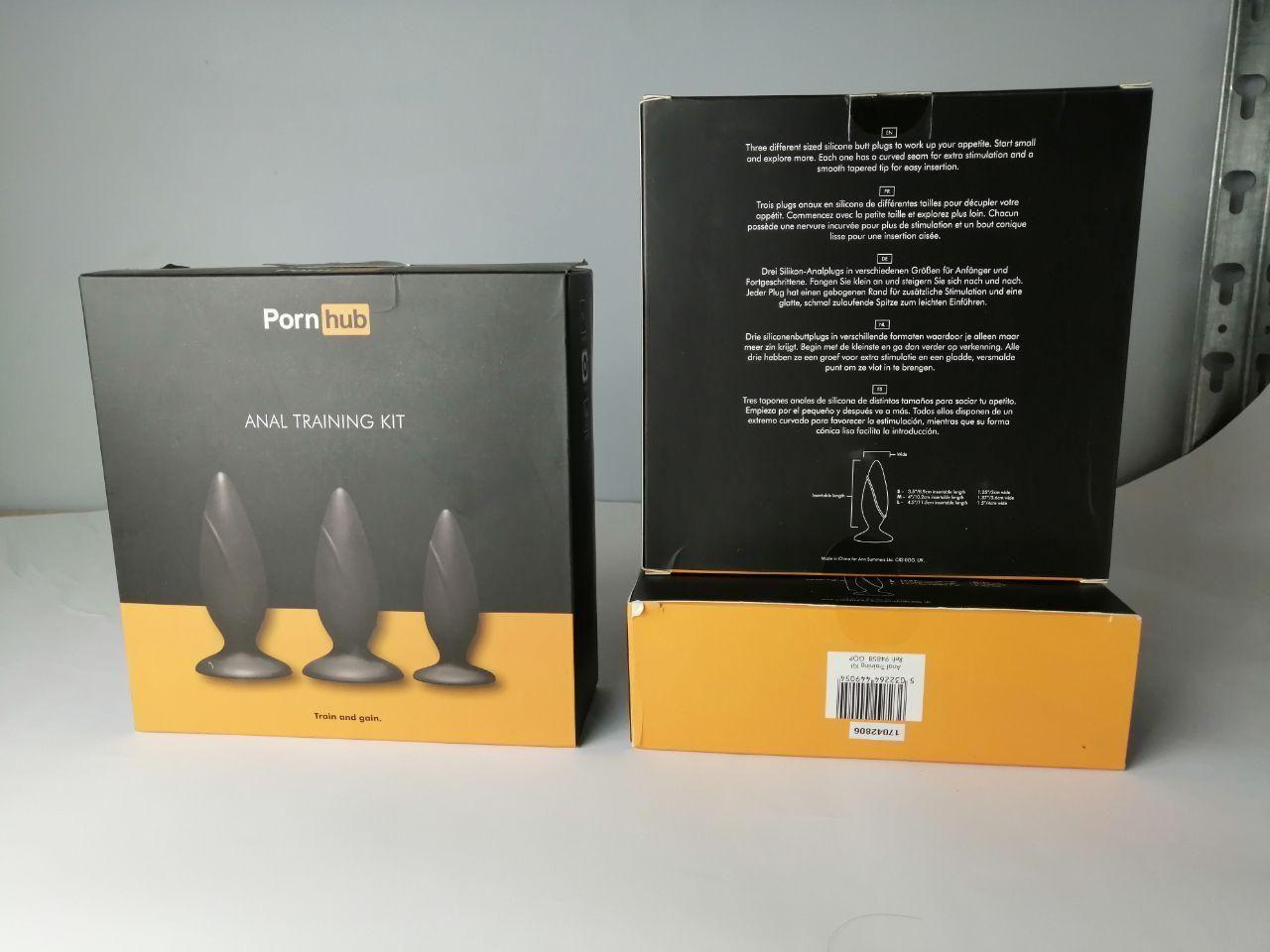 Набор анальных пробок Pornhub Anal Training Kit (незначительные дефекты упаковки)