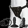 Набор для страпона Doc Johnson Vac-U-Lock Dual Density Starter Set Vanilla, диаметр 2х3,8см, 5,1см, фото 5