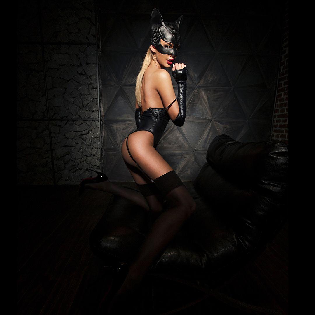"""Эротический костюм кошечки """"Игривая Стефани"""" М, боди, перчатки, без маски"""