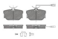 Тормозные колодки SCT: VW, Transporter/Bus (T4)зад