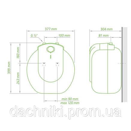 Водонагреватель Tesy Compact Line 15 л под мойкой, мокрый ТЭН 1,5 кВт (GCU1515L52RC) 304143, фото 2