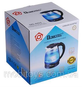 Электрочайник Domotec MS-8211 2200Вт 2.2л Deep blue стекло с подсветкой (4121)