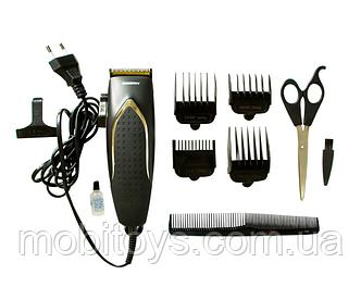 Профессиональная машинка - триммер для стрижки волос Gemei GM-809 с насадками