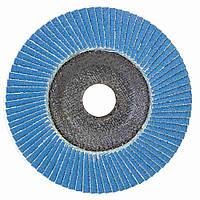 Круг лепестковый торцевой Т29 (конический) ZA Ø125мм P100 SIGMA (9173551), фото 1
