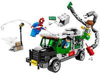 Конструктор Bela серия Super heroes 10239 (Человек-паук против Доктора Осьминога: ограбление грузовика)