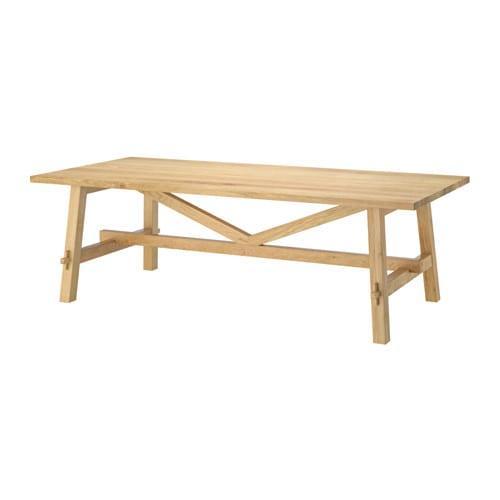 ИКЕА (IKEA) МОККЕЛЬБЮ, 002.937.72, Стол, дуб, 235x100 см - ТОП ПРОДАЖ