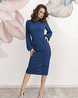 Платье женское облегающее бирюзовое
