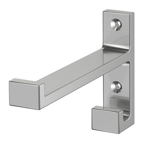 ИКЕА (IKEA) БЬЕРНУМ, 401.525.91, Крепление, алюминий, 9 см - ТОП ПРОДАЖ